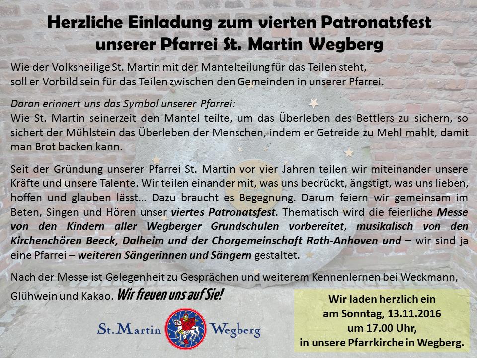 st. martin wegberg   - part 10, Einladung