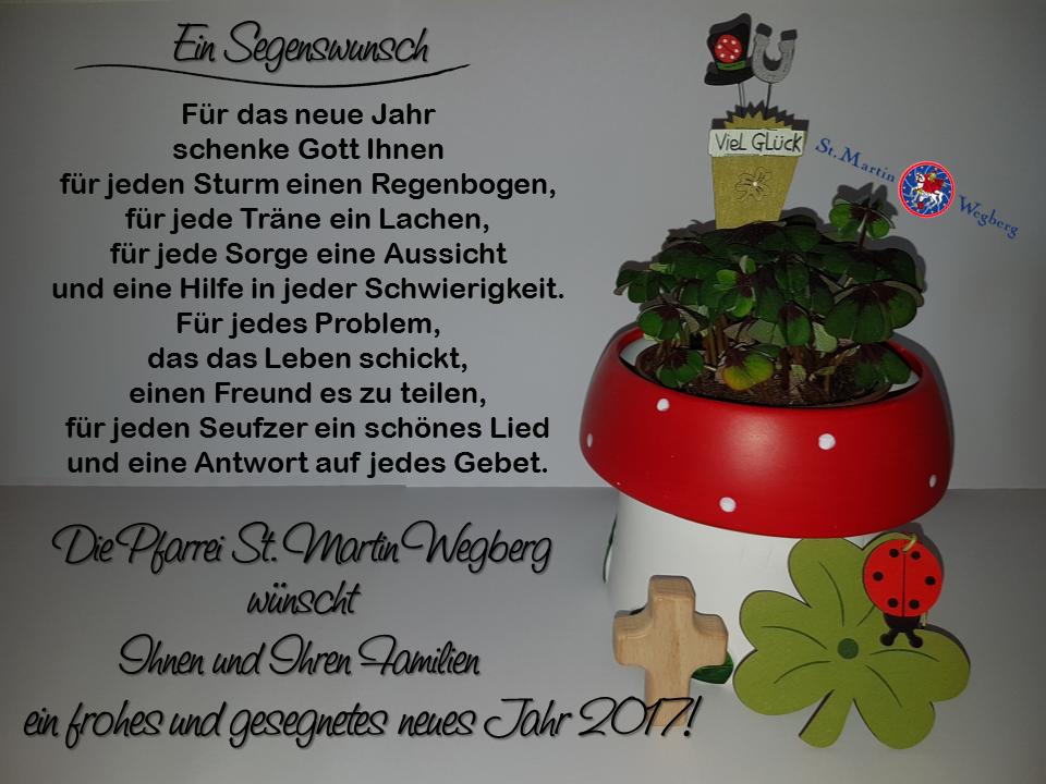 Ein frohes und gesegnetes neues Jahr 2017!   St. Martin Wegberg